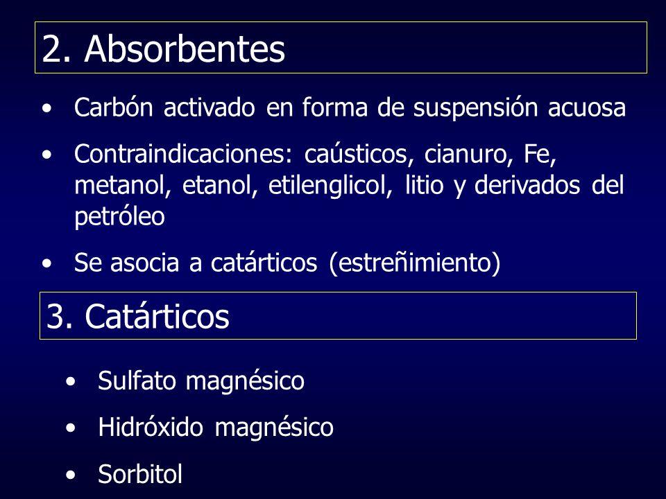 2. Absorbentes 3. Catárticos