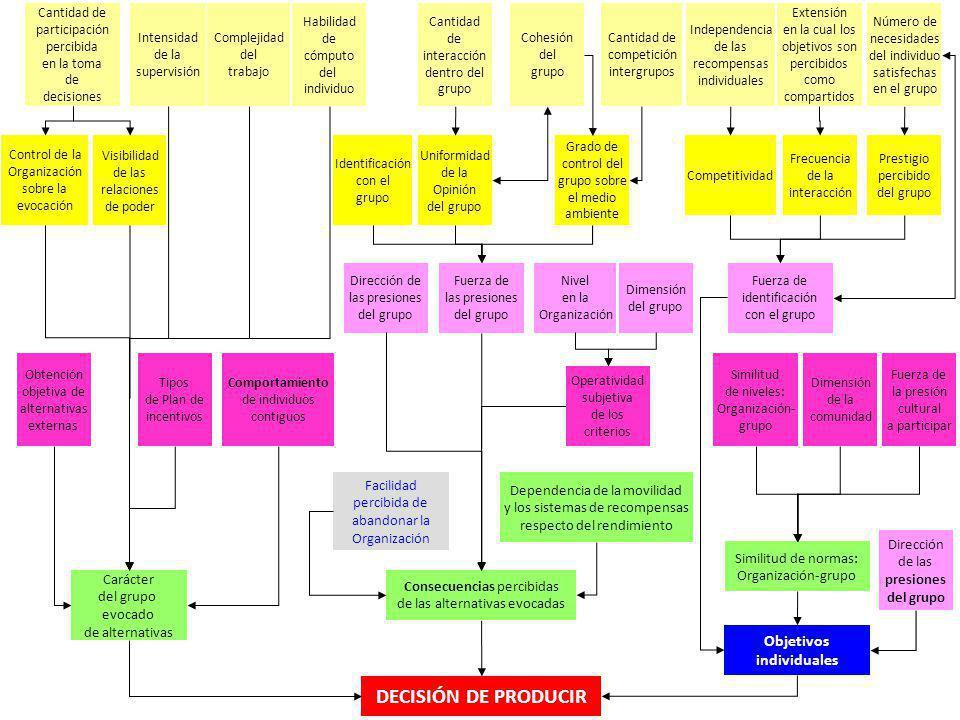 DECISIÓN DE PRODUCIR Objetivos Facilidad Dependencia de la movilidad