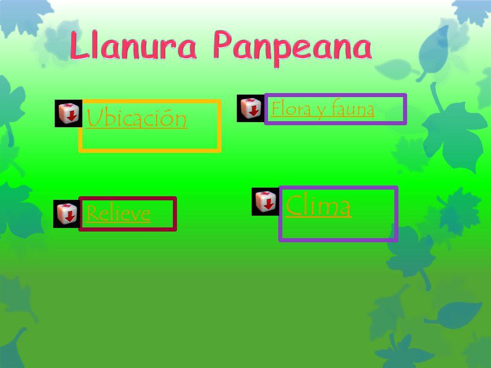 Llanura Panpeana Flora y fauna Ubicación Clima Relieve