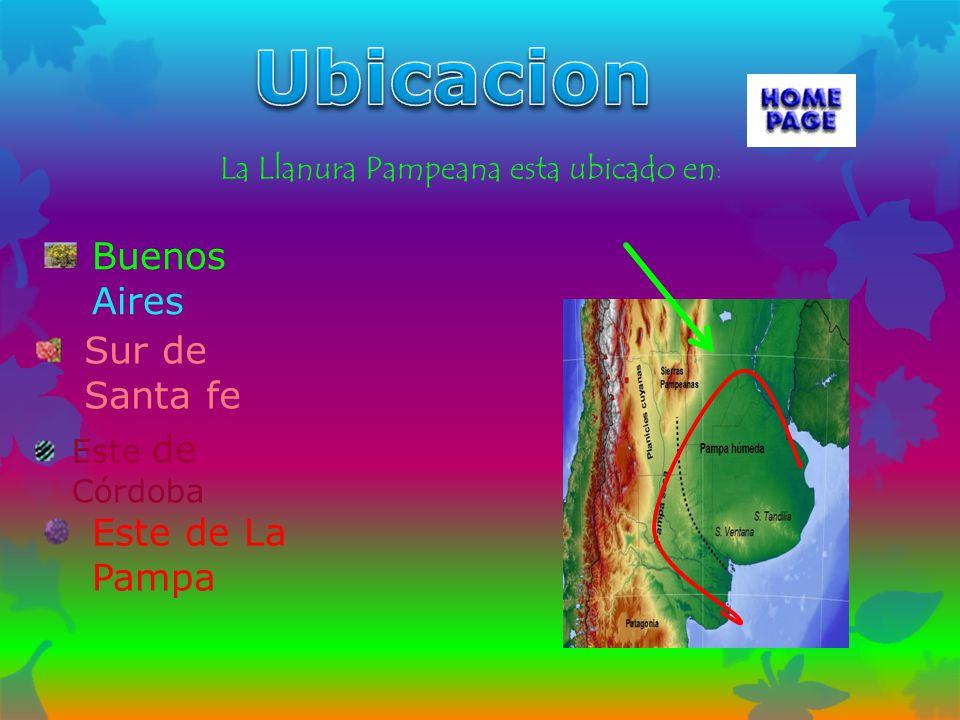 Ubicacion Buenos Aires Sur de Santa fe Este de La Pampa