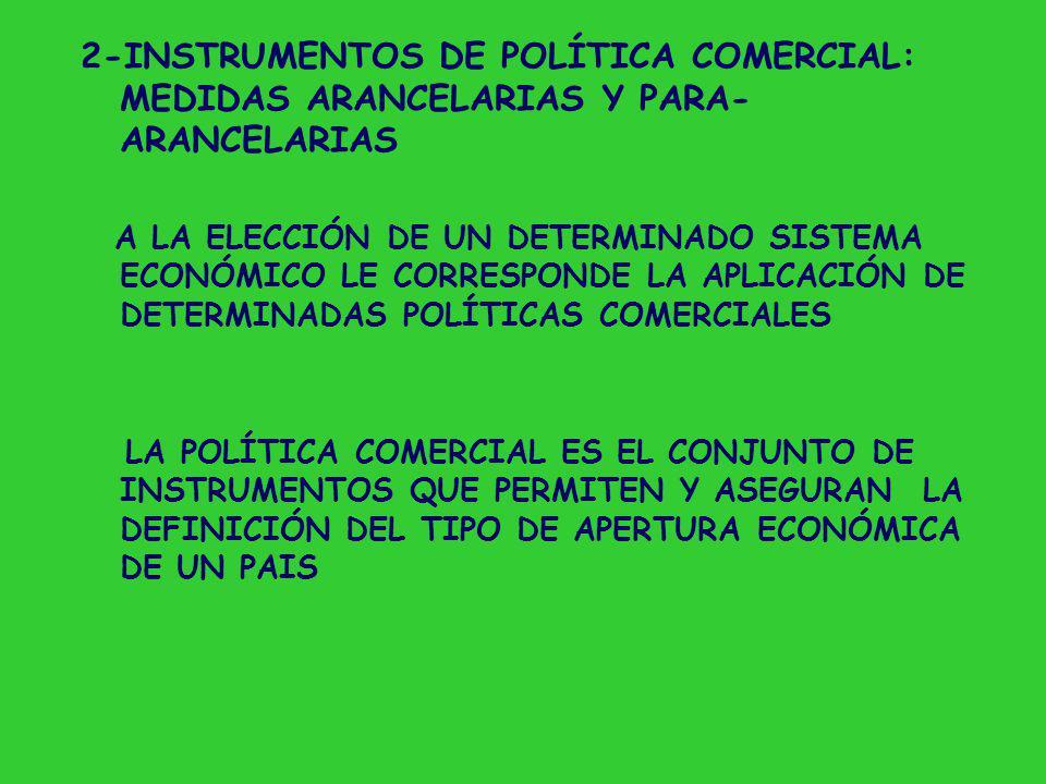 2-INSTRUMENTOS DE POLÍTICA COMERCIAL: MEDIDAS ARANCELARIAS Y PARA-ARANCELARIAS