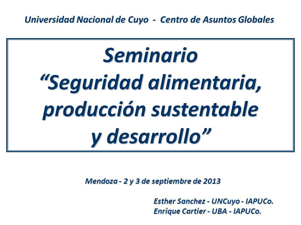 Seminario Seguridad alimentaria, producción sustentable y desarrollo