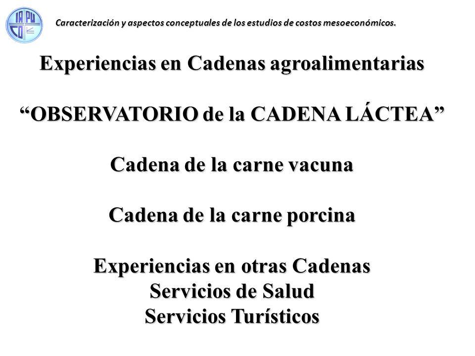 Experiencias en Cadenas agroalimentarias