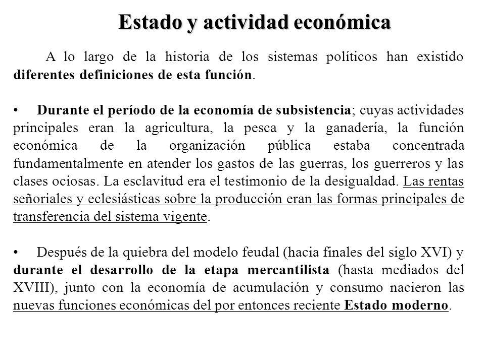 Estado y actividad económica