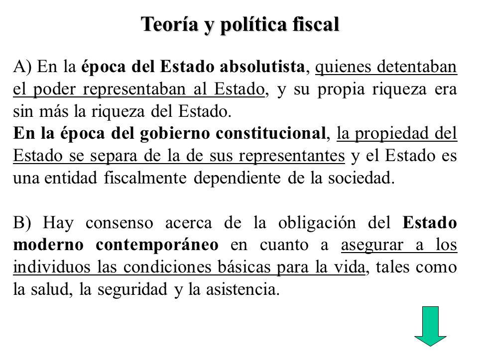 Teoría y política fiscal
