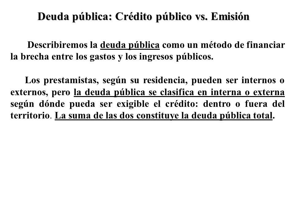 Deuda pública: Crédito público vs. Emisión