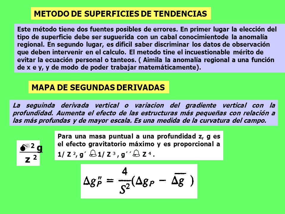 2 g z 2 METODO DE SUPERFICIES DE TENDENCIAS