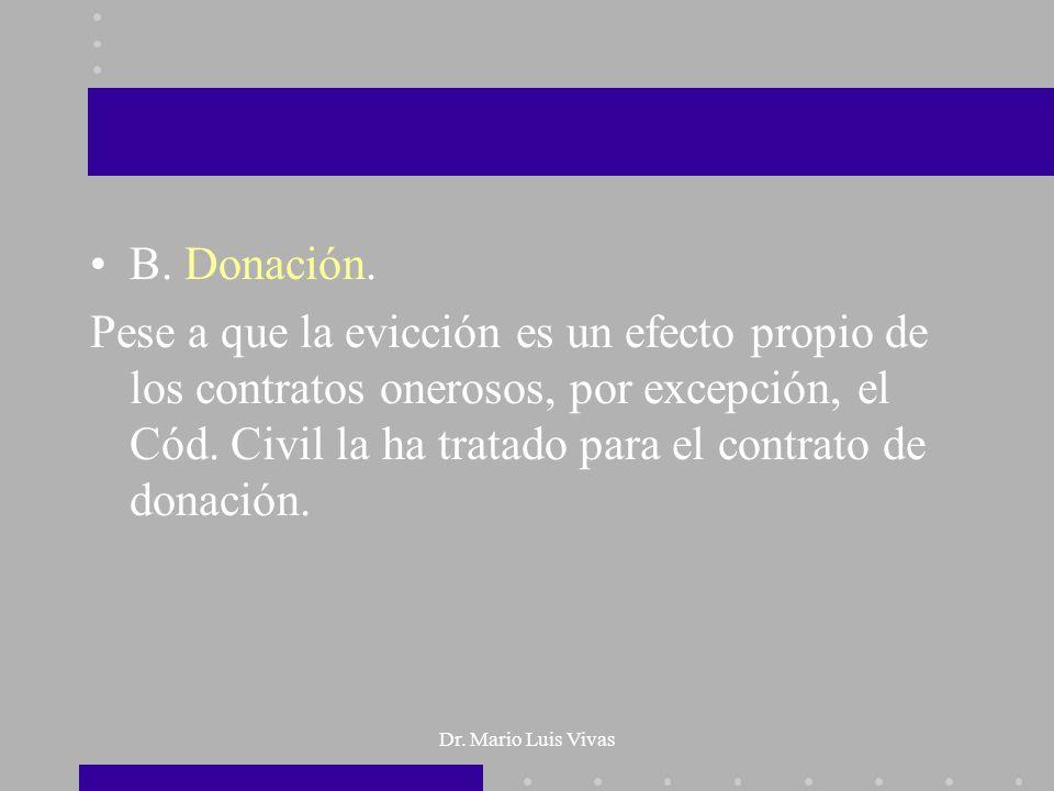 B. Donación.