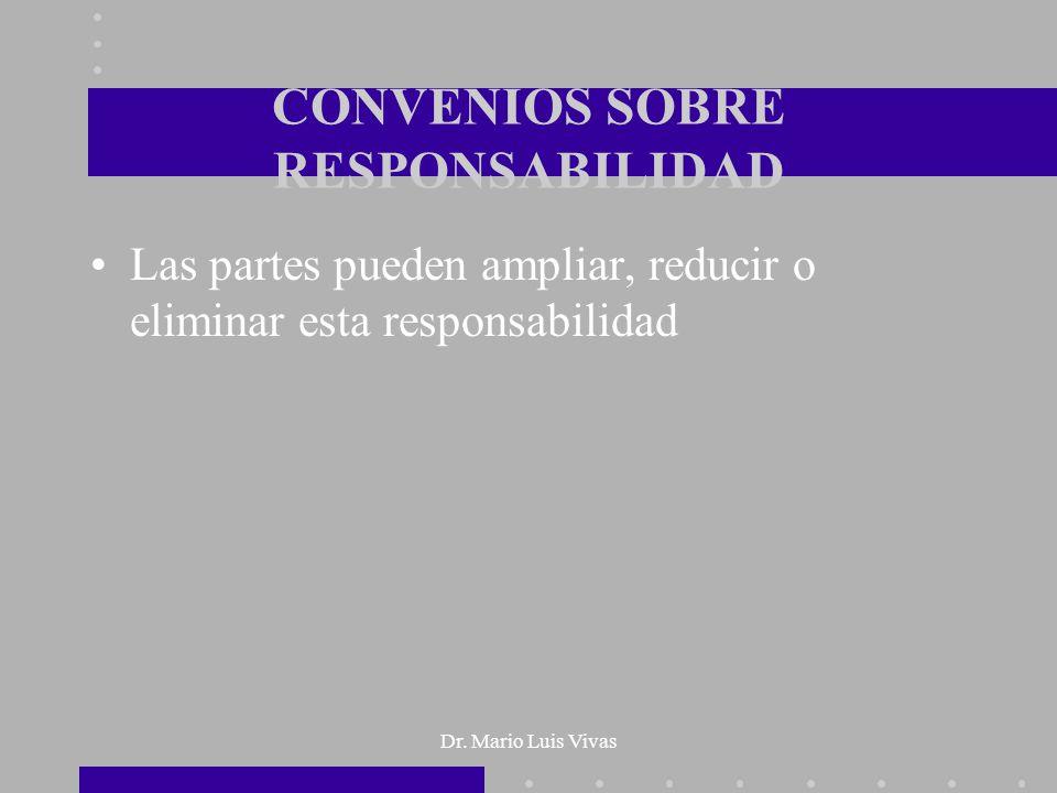 CONVENIOS SOBRE RESPONSABILIDAD
