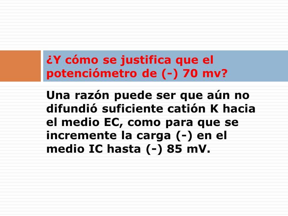 ¿Y cómo se justifica que el potenciómetro de (-) 70 mv