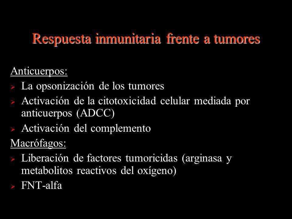 Respuesta inmunitaria frente a tumores