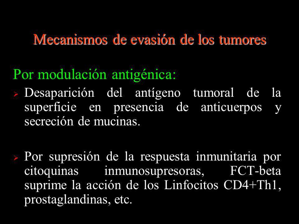 Mecanismos de evasión de los tumores