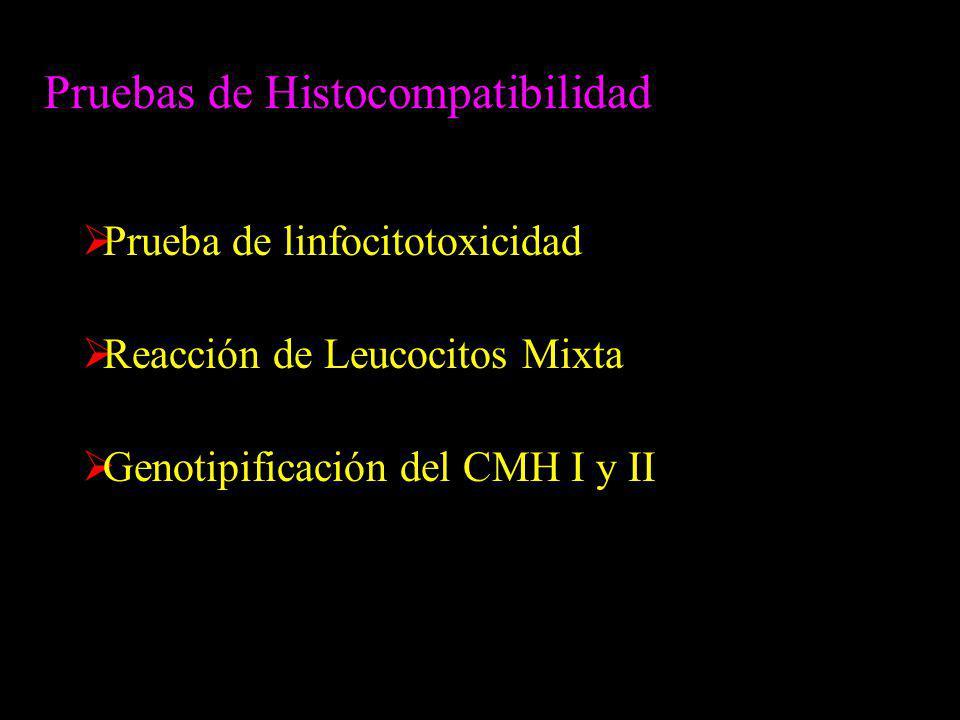 Pruebas de Histocompatibilidad