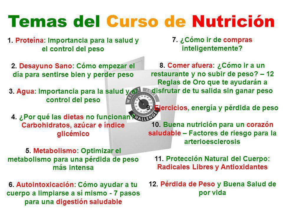 Temas del Curso de Nutrición