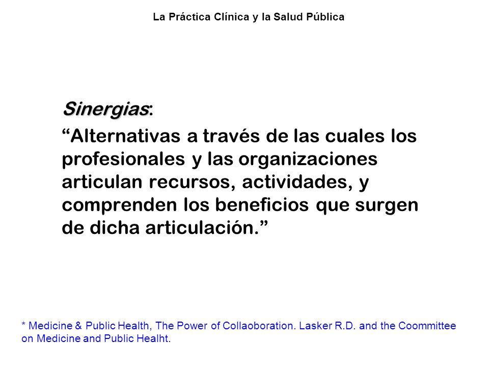 Colaboración entre la Clínica y la Salud Pública*