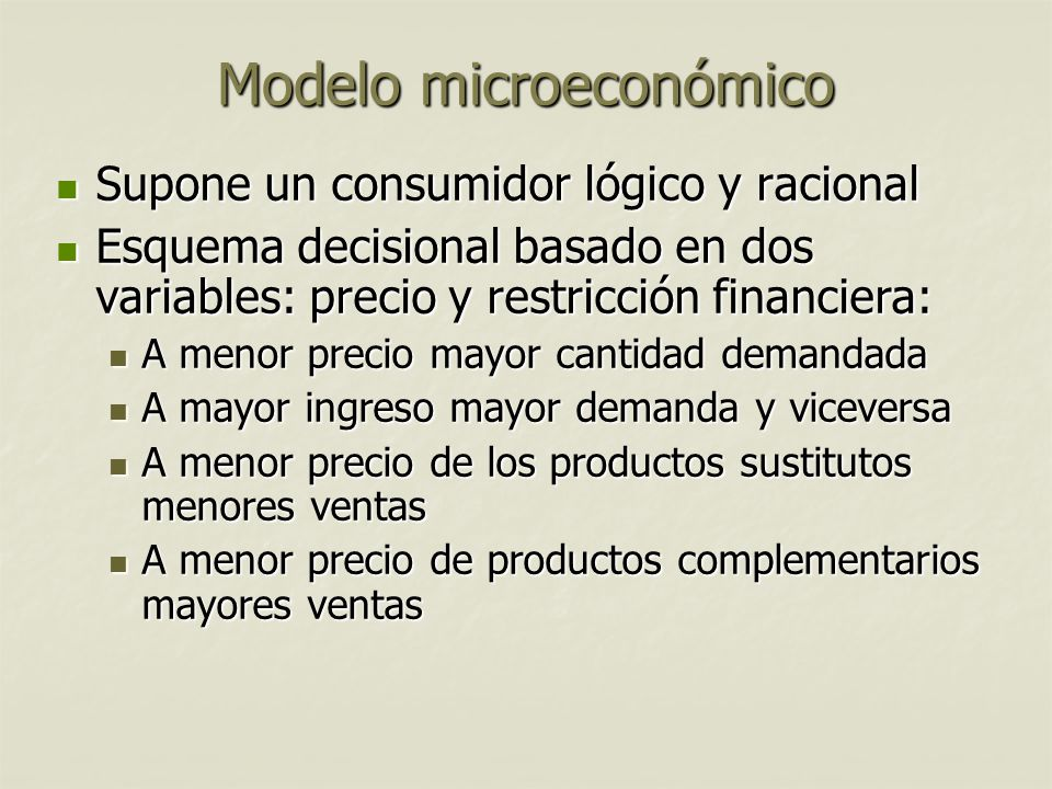 Modelo microeconómico