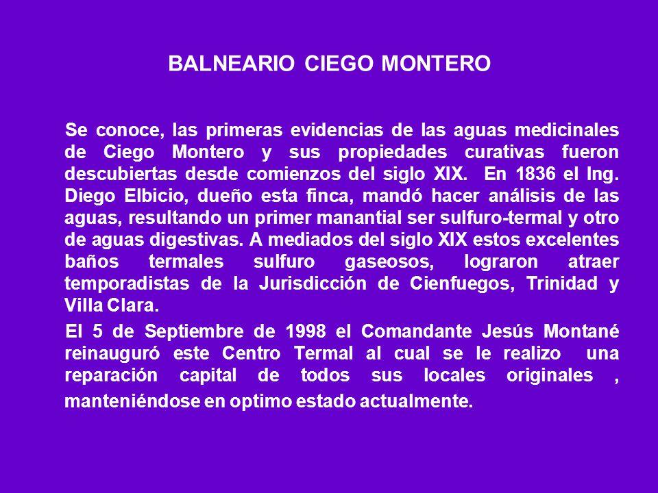 BALNEARIO CIEGO MONTERO