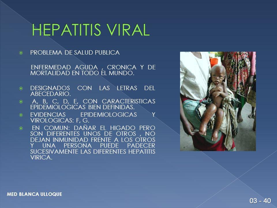 HEPATITIS VIRAL 03 - 40 PROBLEMA DE SALUD PUBLICA