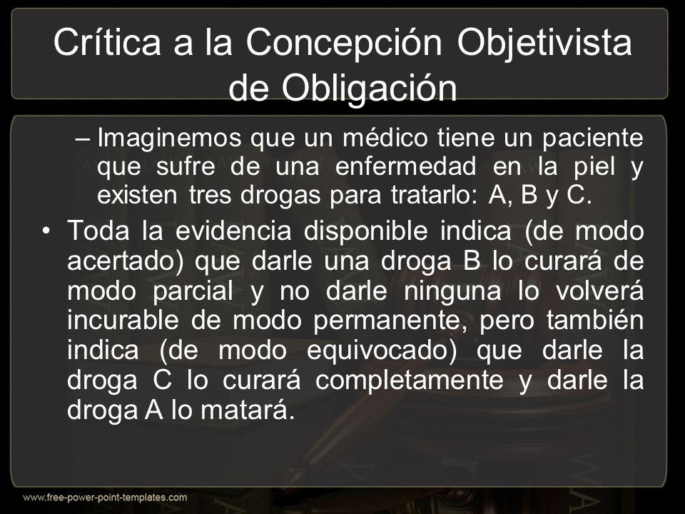 Crítica a la Concepción Objetivista de Obligación