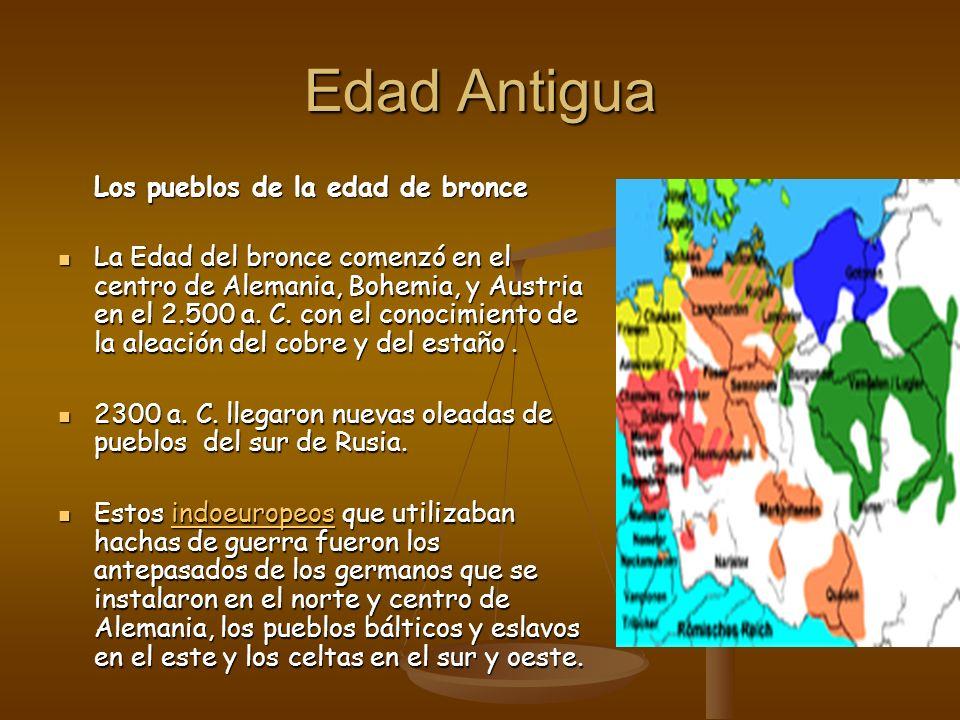 Edad Antigua Los pueblos de la edad de bronce