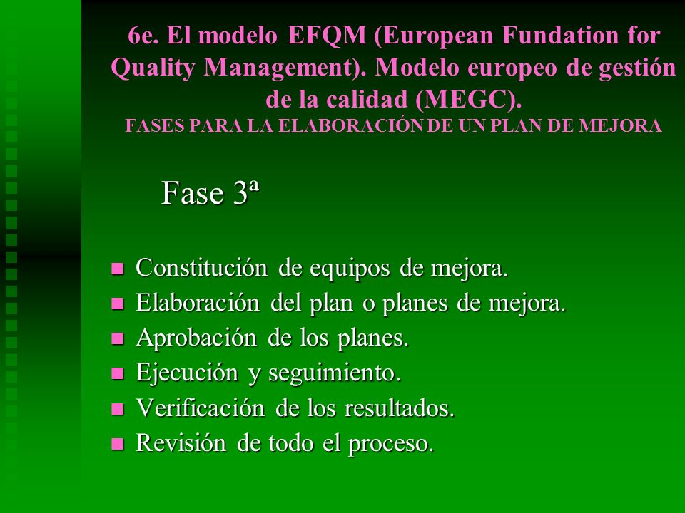 6e. El modelo EFQM (European Fundation for Quality Management)