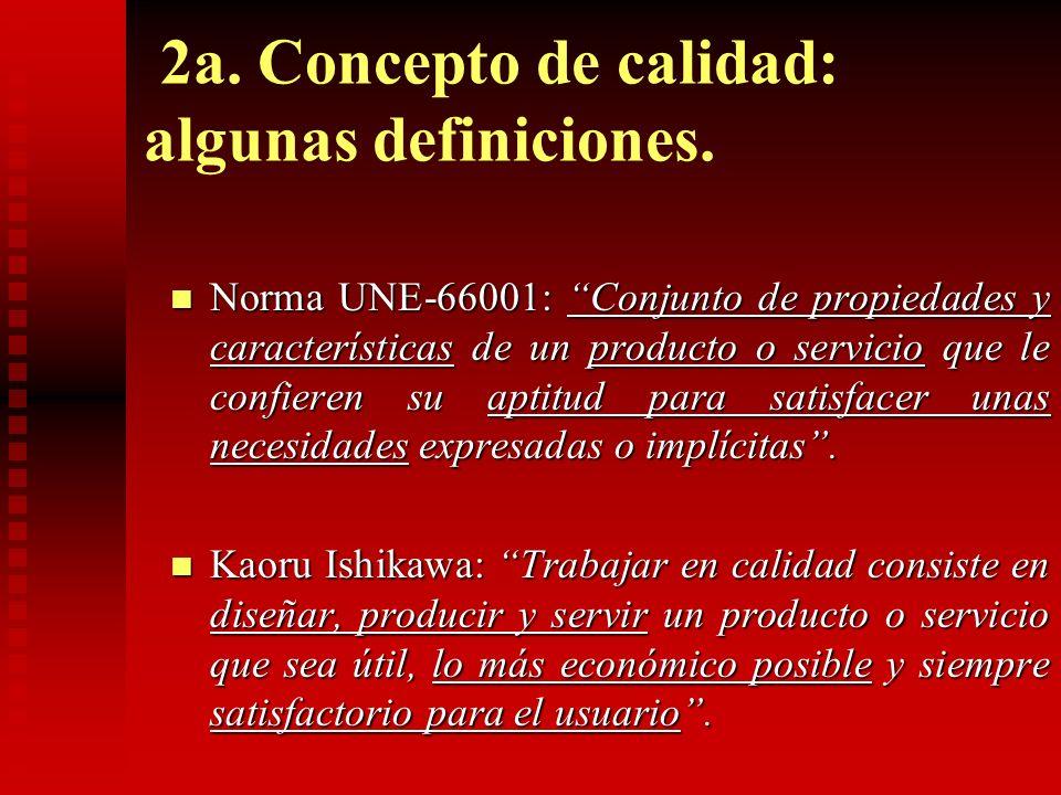 2a. Concepto de calidad: algunas definiciones.