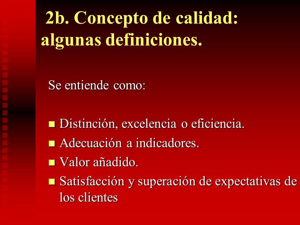 2b. Concepto de calidad: algunas definiciones.