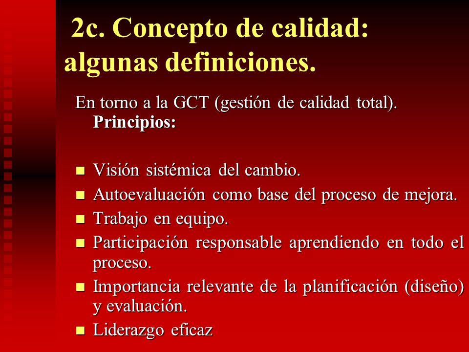 2c. Concepto de calidad: algunas definiciones.