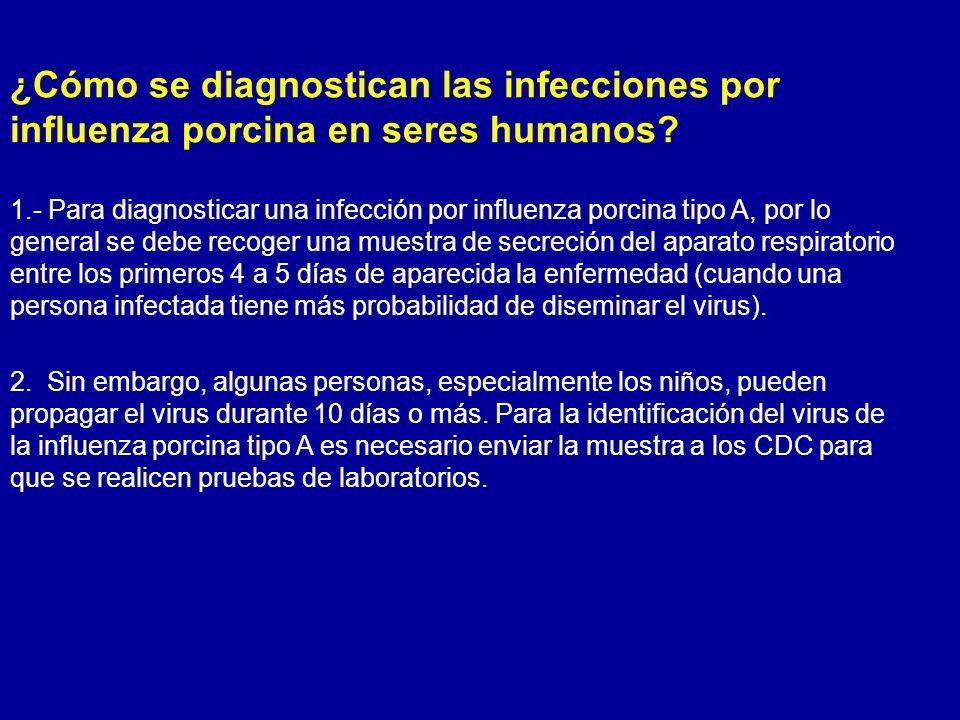 ¿Cómo se diagnostican las infecciones por influenza porcina en seres humanos
