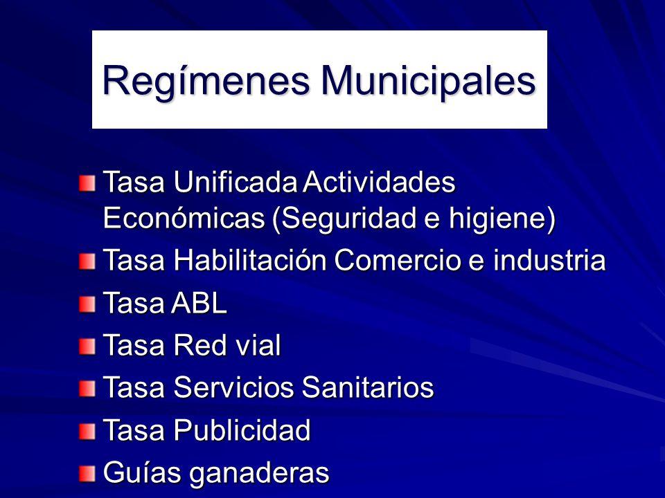 Regímenes Municipales