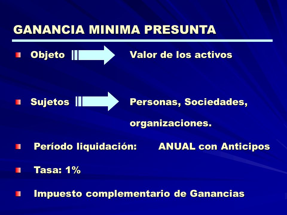 GANANCIA MINIMA PRESUNTA