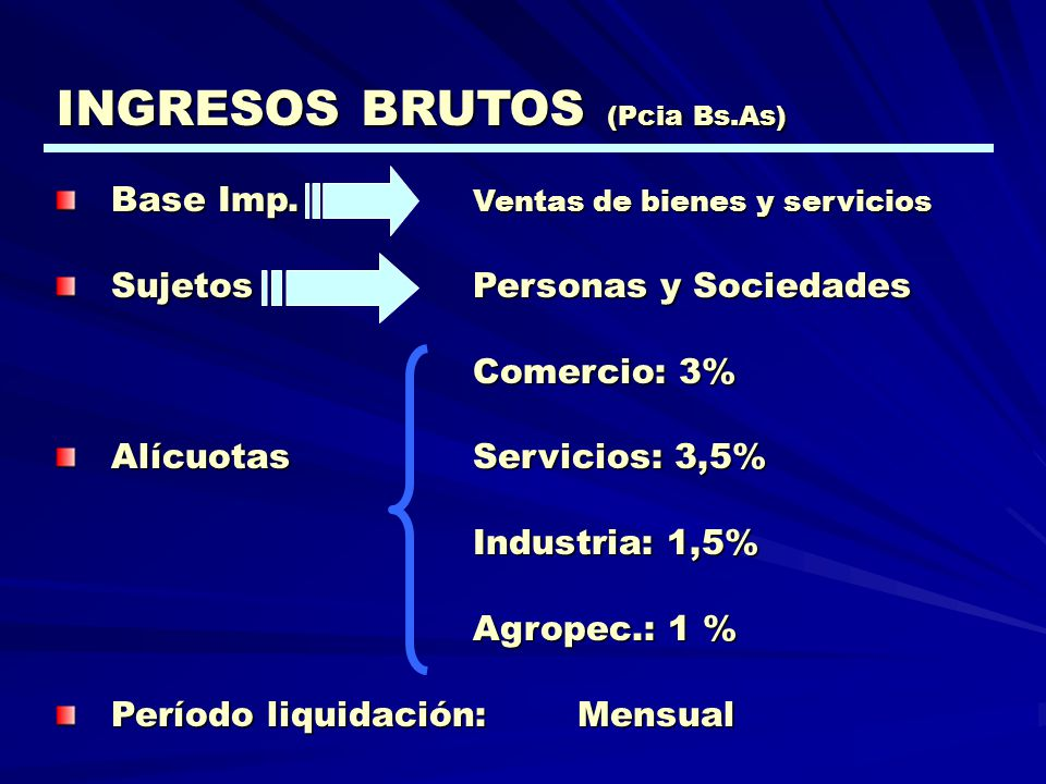 INGRESOS BRUTOS (Pcia Bs.As)