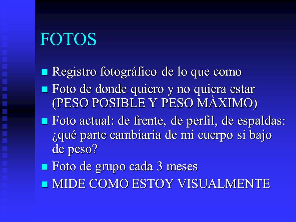 FOTOS Registro fotográfico de lo que como