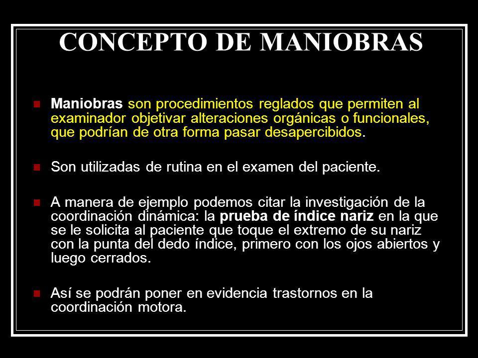 CONCEPTO DE MANIOBRAS