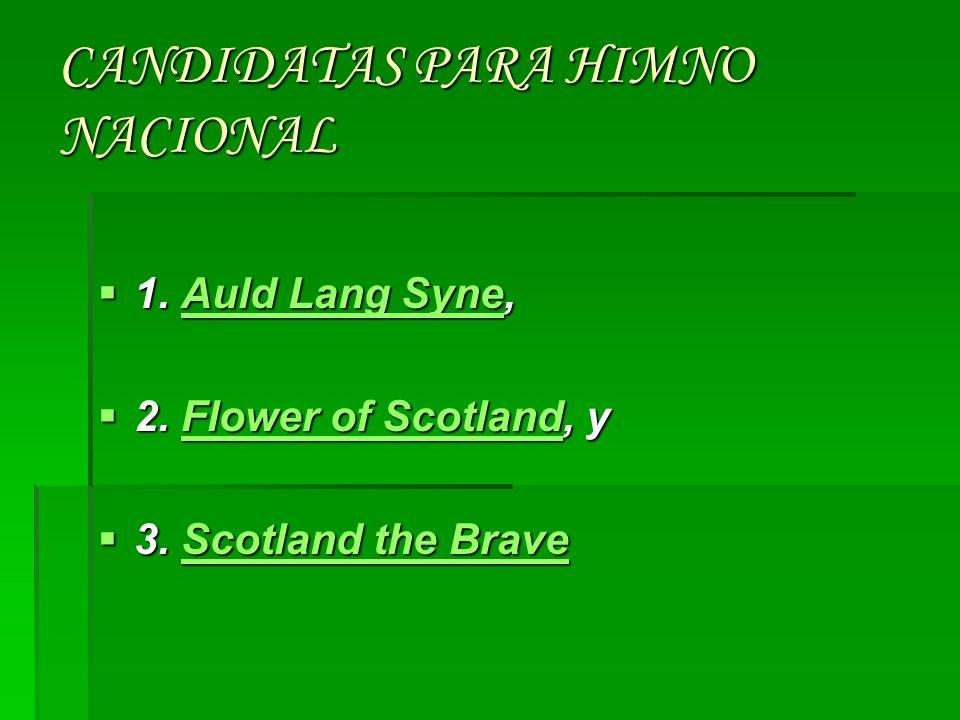 CANDIDATAS PARA HIMNO NACIONAL