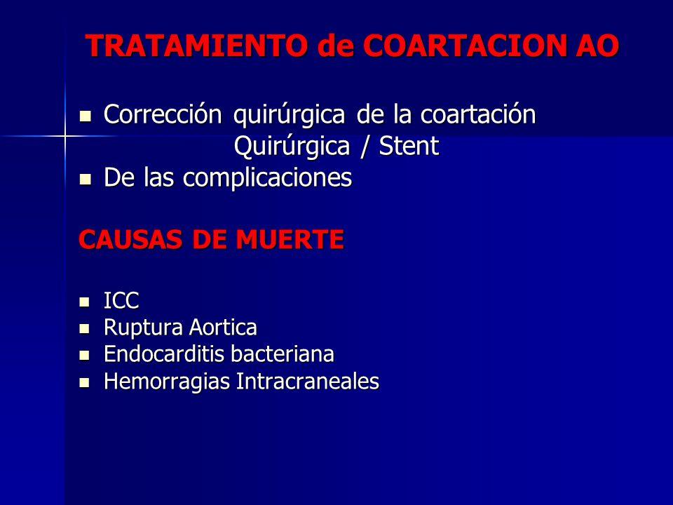 TRATAMIENTO de COARTACION AO