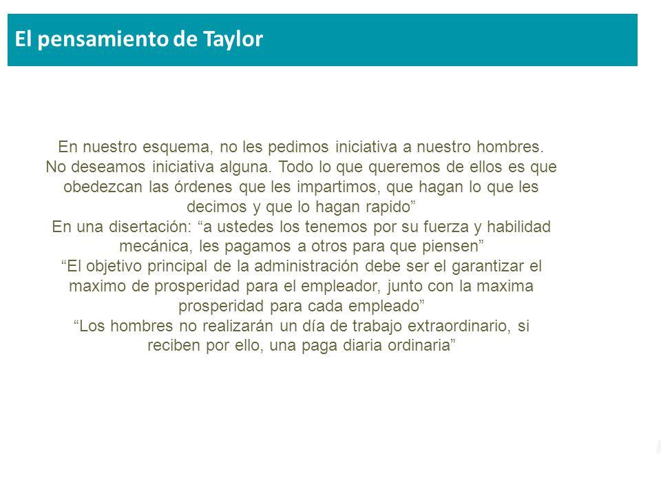 El pensamiento de Taylor