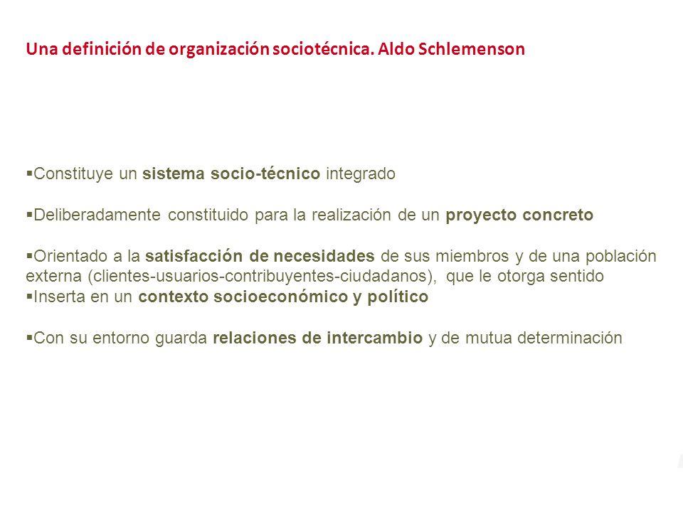 Una definición de organización sociotécnica. Aldo Schlemenson
