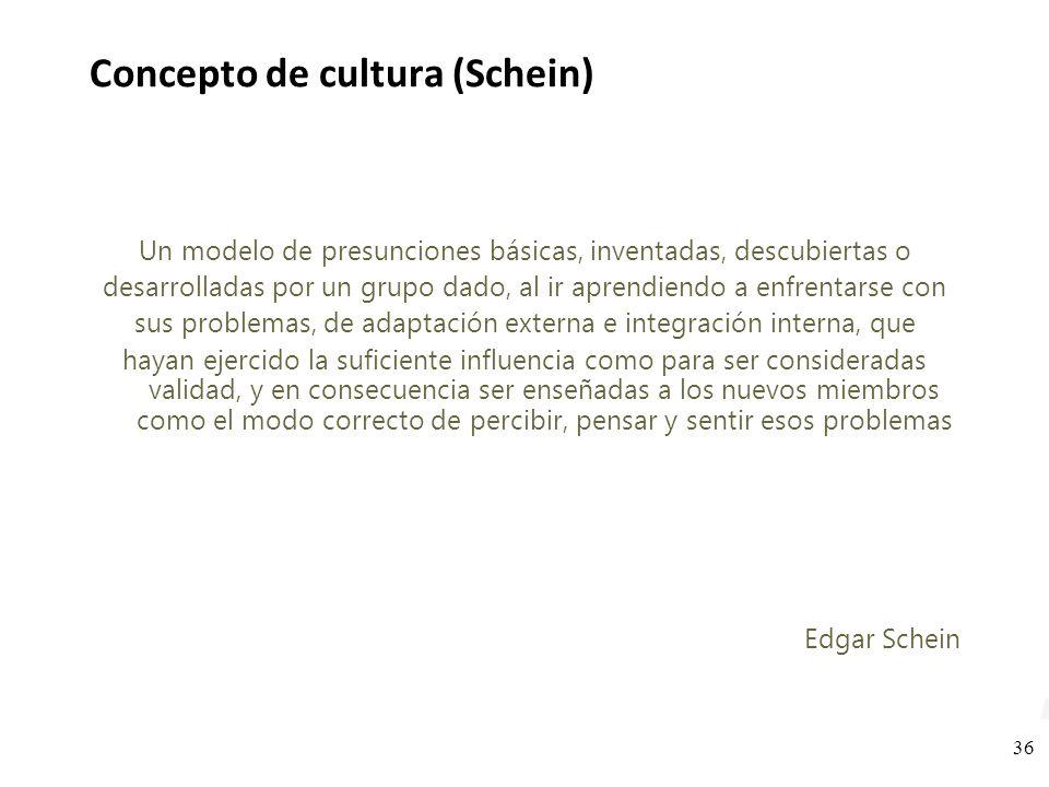 Concepto de cultura (Schein)