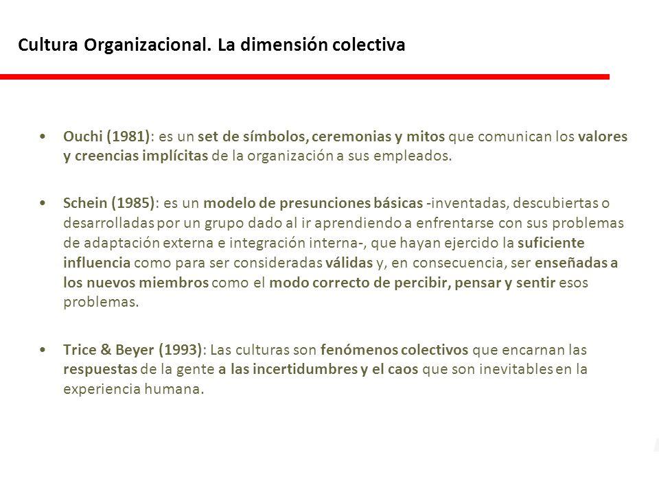 Cultura Organizacional. La dimensión colectiva
