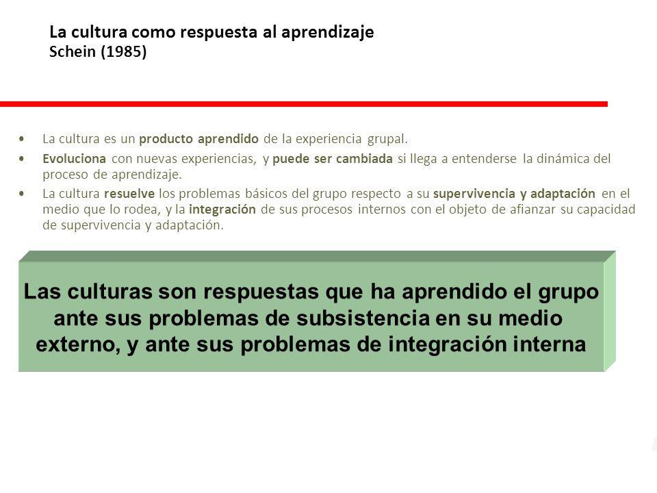 La cultura como respuesta al aprendizaje Schein (1985)
