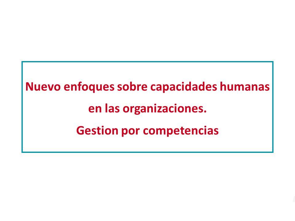 Nuevo enfoques sobre capacidades humanas en las organizaciones
