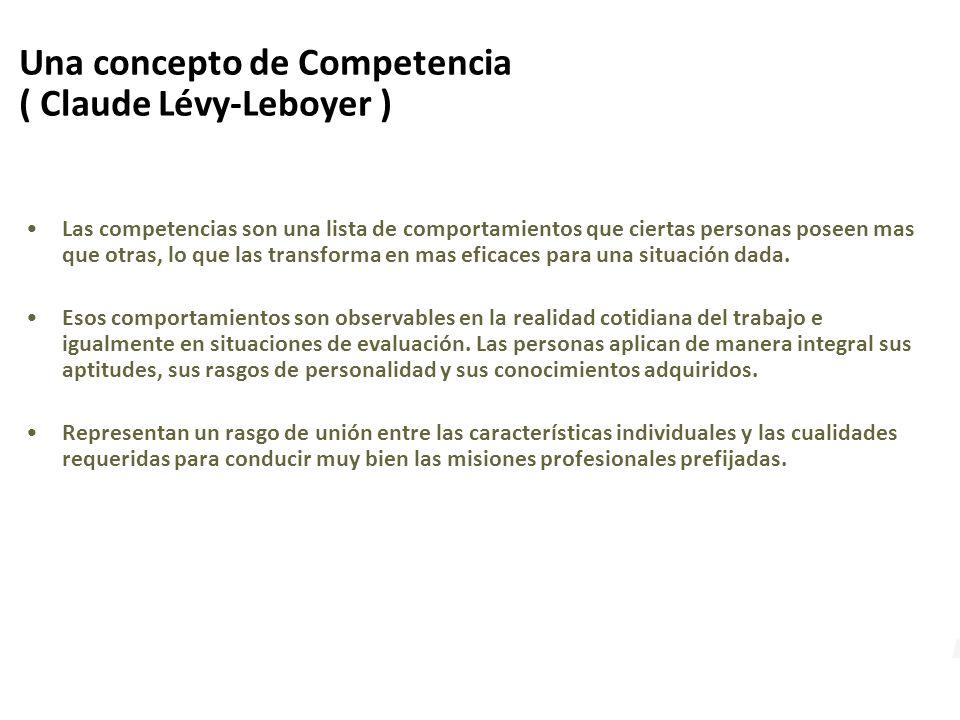 Una concepto de Competencia ( Claude Lévy-Leboyer )