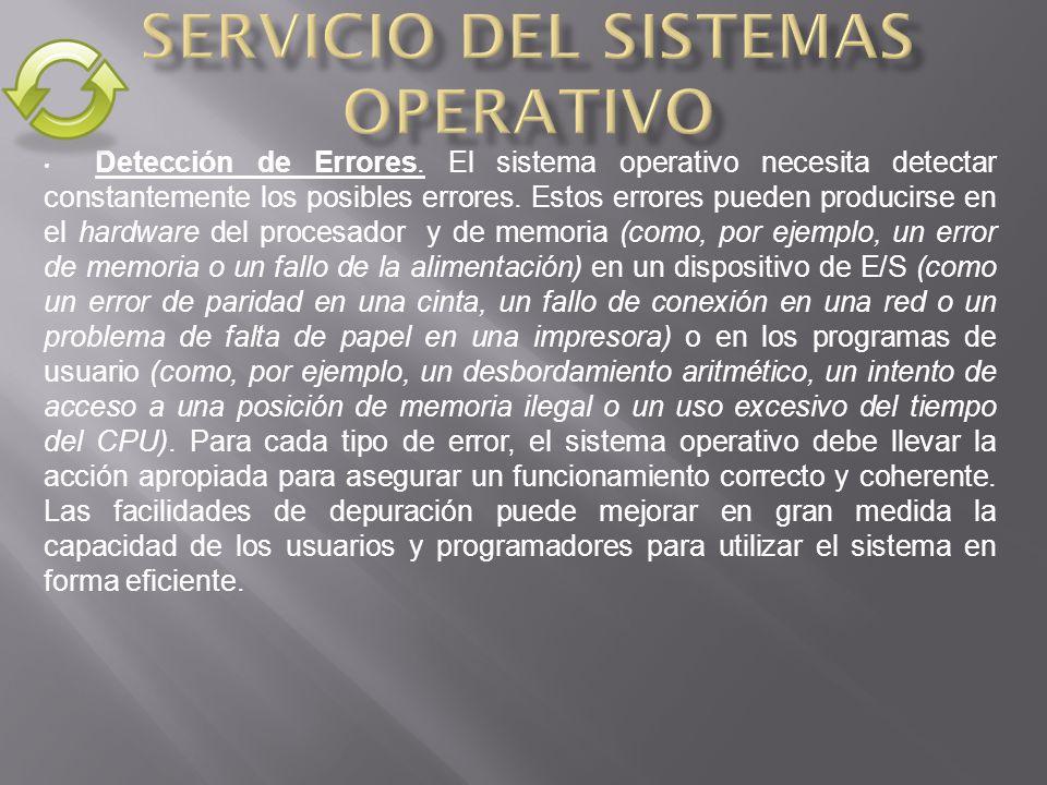 Servicio del Sistemas Operativo