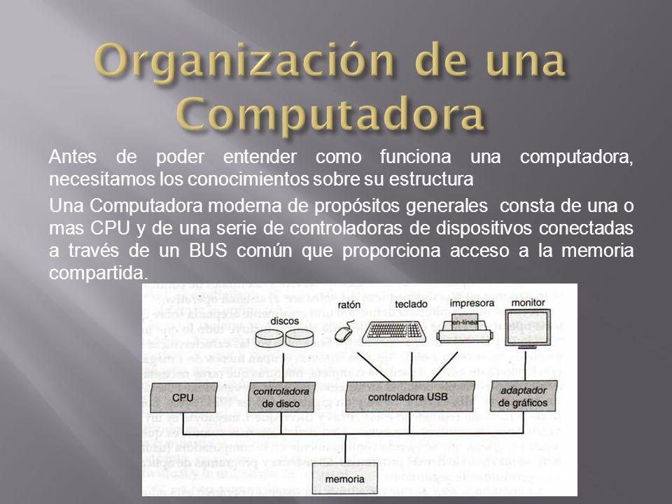 Organización de una Computadora