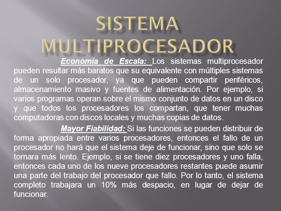 Sistema multiprocesador