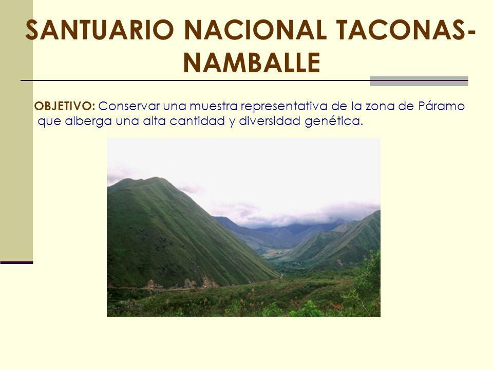 SANTUARIO NACIONAL TACONAS-NAMBALLE