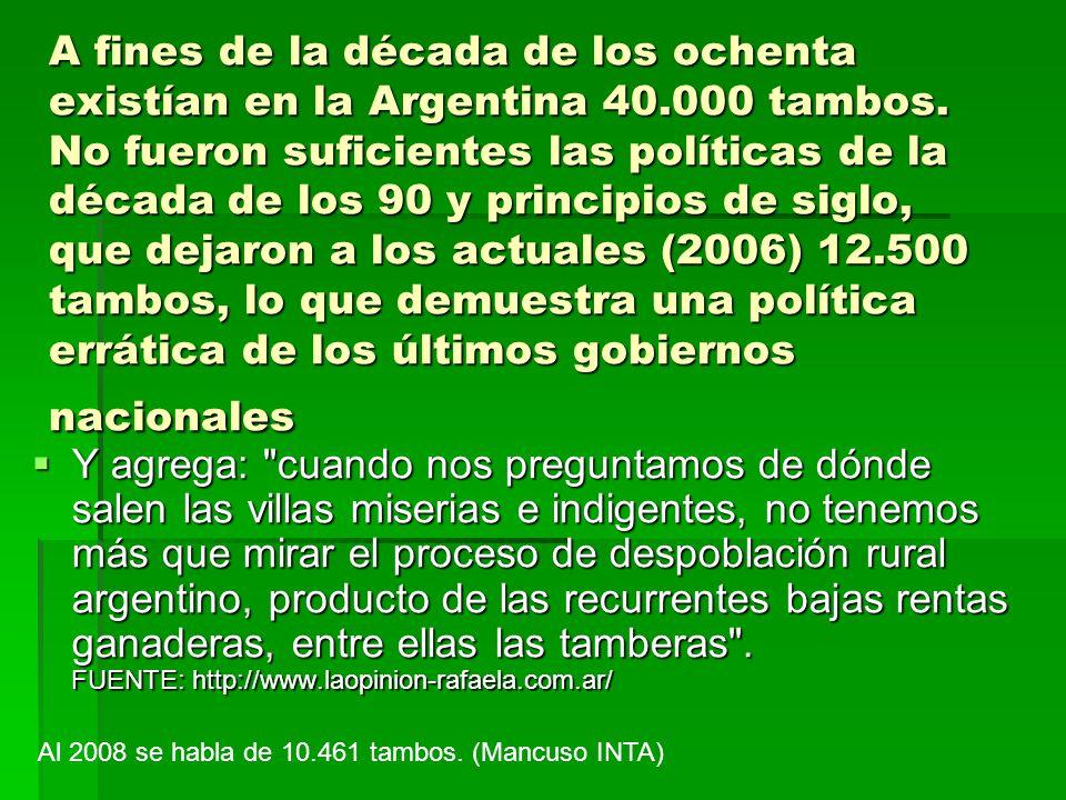 A fines de la década de los ochenta existían en la Argentina 40