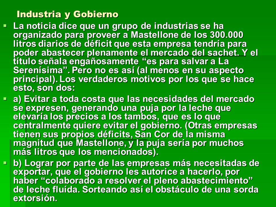 Industria y Gobierno