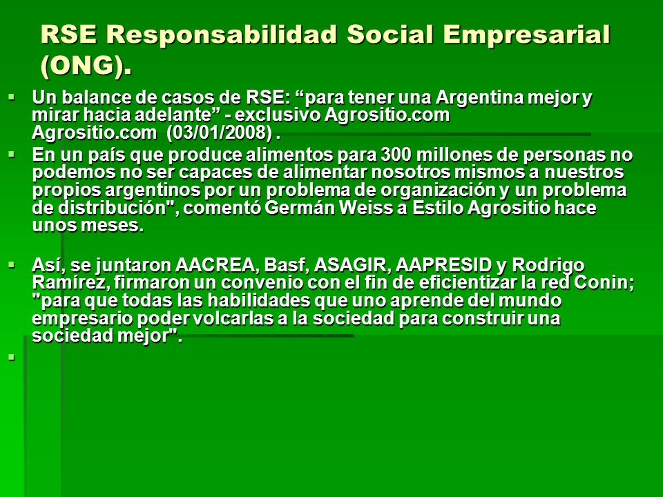 RSE Responsabilidad Social Empresarial (ONG).